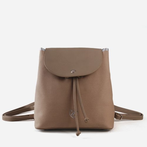 STUART Round flap mini backpack